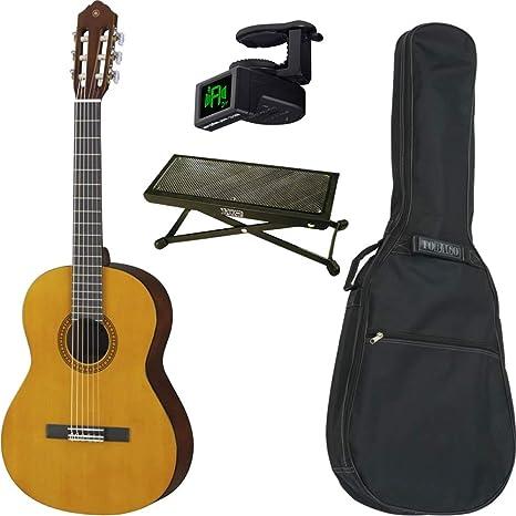 Pack guitarra clásica Yamaha CS40 3/4 + funda + reposapiés + afinador: Amazon.es: Instrumentos musicales