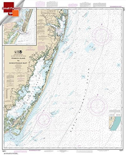 - Paradise Cay Publications NOAA Chart 12211: Fenwick Island to Chincoteague Inlet; Ocean City Inlet 21.00 x 17.09 (SMALL FORMAT WATERPROOF)