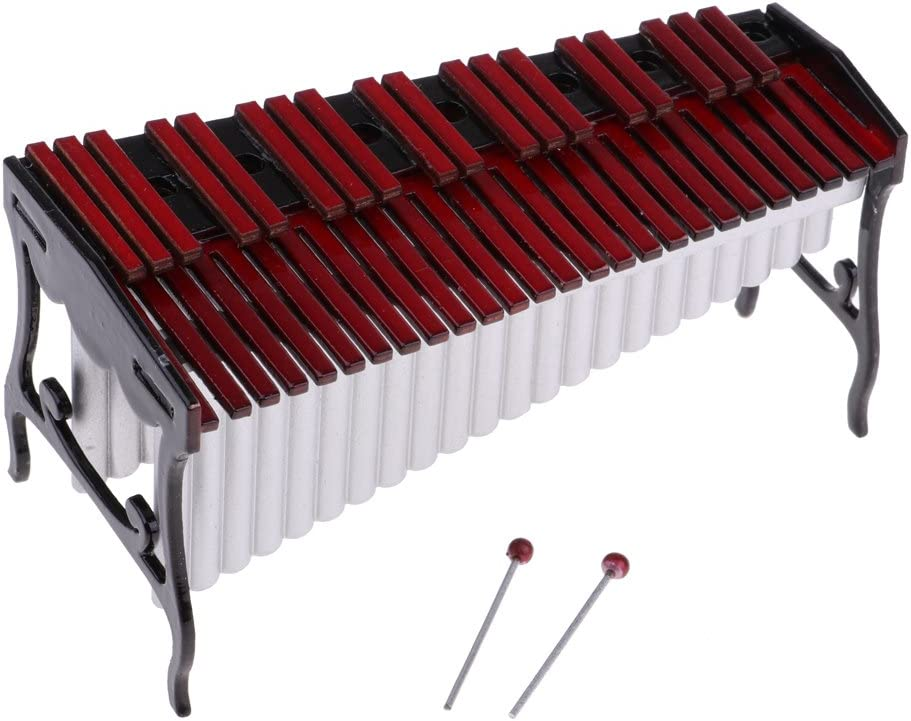 MagiDeal Miniature Red Xylophone Model With Storage Box For Kids Gift Toy