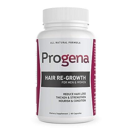 Progena - Tratamiento antipérdida de cabello para mujeres, 60 cápsulas