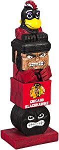 Team Sports America Chicago Blackhawks Tiki Totem 12 inch Garden Statue