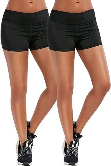Whifan Pantalon Leggins Corto Deportivo Para Mujer Running Pantalones Cortos De Yoga Con Bolsillo Lateral Pantalones Deportivos Y Elasticos Polaina Amazon Es Ropa Y Accesorios
