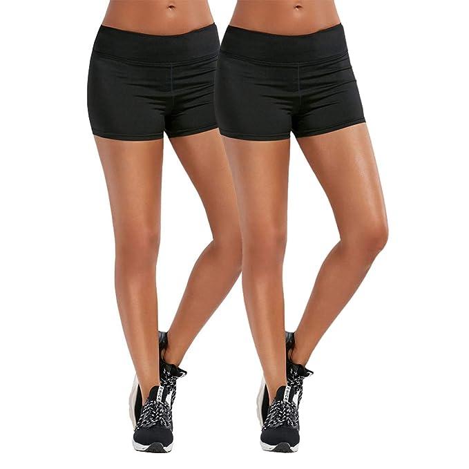 WhiFan Pantalón Leggins Corto Deportivo para Mujer 2e1c6e3398c6d