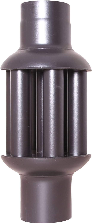 acerto 30106 Intercambiador de calor de gases de escape 120x650mm - negro * ahorro de energía * limpieza fácil * instalación fácil | intercambiador de aire caliente refrigerador de gases