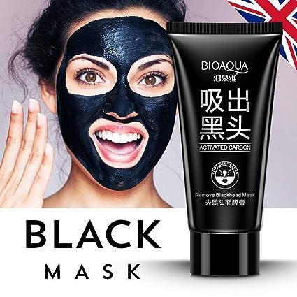 Carbón activado Carbon Purificación Blackhead Remover Peel Off Máscara de negro (60ml)