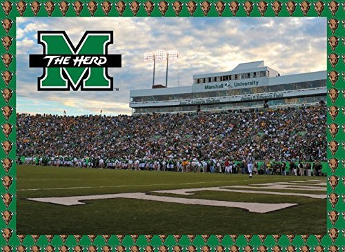 Marshall Thundering Herd 500 Piece Jigsaw Puzzle 16''x20 Size Football Stadium University of