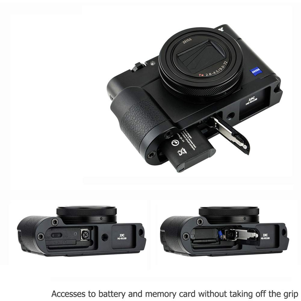 JJC Hand Grip Bracket for Sony RX100 VI V IV III II Replace Sony AGR2 Attachment Grip with a Screwdriver for Easy Installation