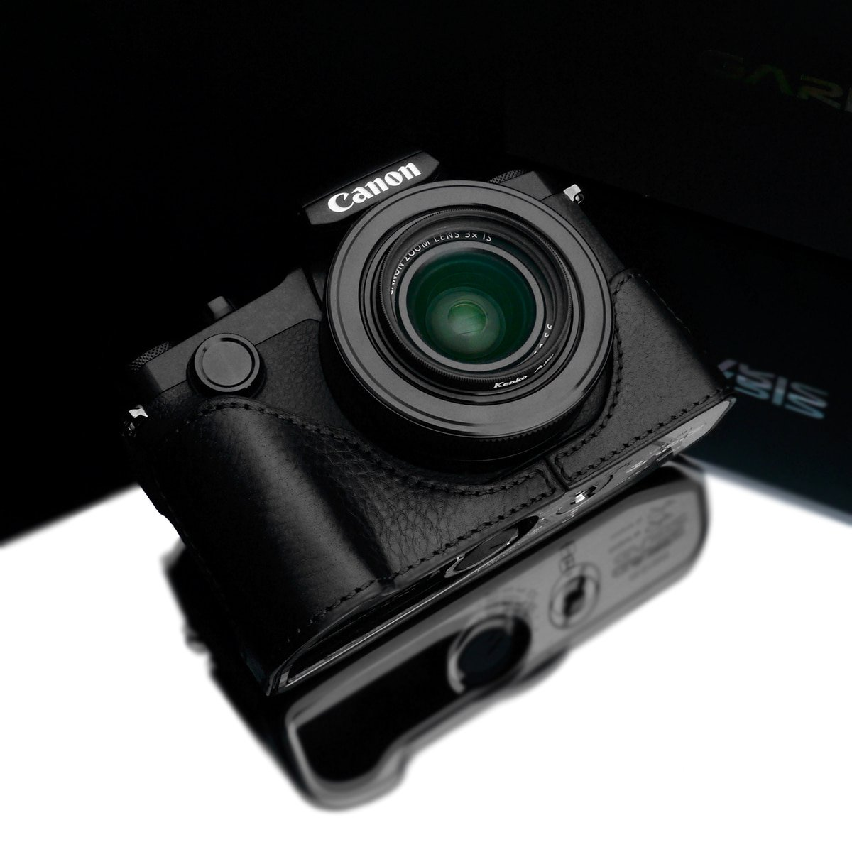 Gariz XS-G1XM3BK Leather Half Case for Canon G1X Mark III, Black
