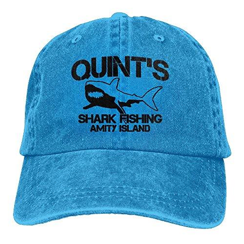 (Arsmt Quint's Shark Fishing Denim Hat Adjustable Women Surf Baseball Hat)