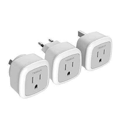 European to American Travel Plug Adapter 3 pack