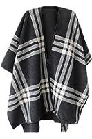 VamJump Women Winter Reversible Oversized Blanket Poncho Cape Shawl Cardigans