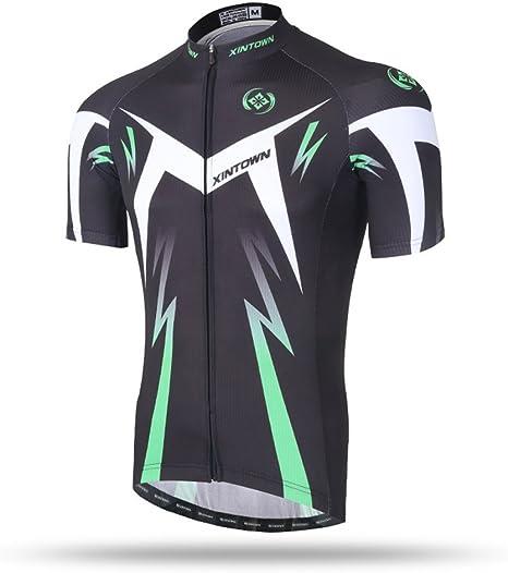 Pinjeer Moisture Wicking Hombres de Verano al Aire Libre Aventura MTB Deportes Ciclismo Jersey Ropa, Verde Estilo aerodinámico Hombres Jersey Camisa de Manga Corta para Racing Bike: Amazon.es: Deportes y aire libre