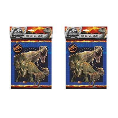 Jurassic World Favor Bags, 8ct (2 Pack): Home & Kitchen