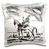 3dRose Don Quixote- Spanish, Literature, Novel, Fiction, Fictional Spanish, People, Man-Pillow Case, 16 by 16' (pc_78688_1)