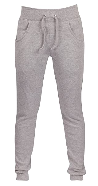 56d70e051fd Ladies Womens Cotton Jog Pants Skinny Sweatpant Casual Joggers Bottoms Plus  Size Grey UK 22 24  Amazon.co.uk  Clothing