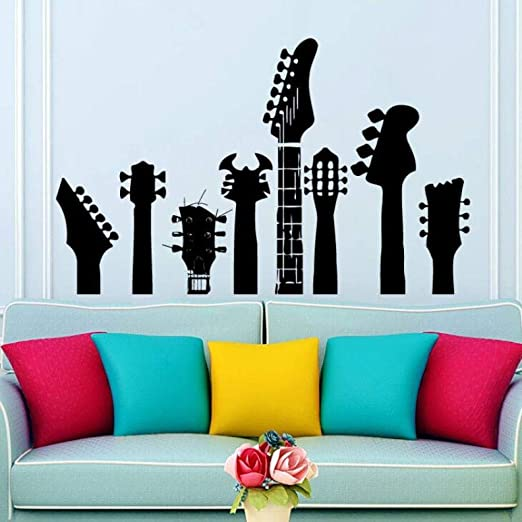 Tatuajes de pared Varios Cuellos de Guitarra Etiqueta de La Pared ...