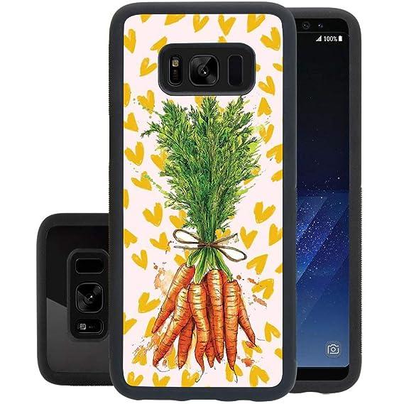 Amazon com: MooreDickey Samsung Galaxy S8 Case, Carrot Painting TPU