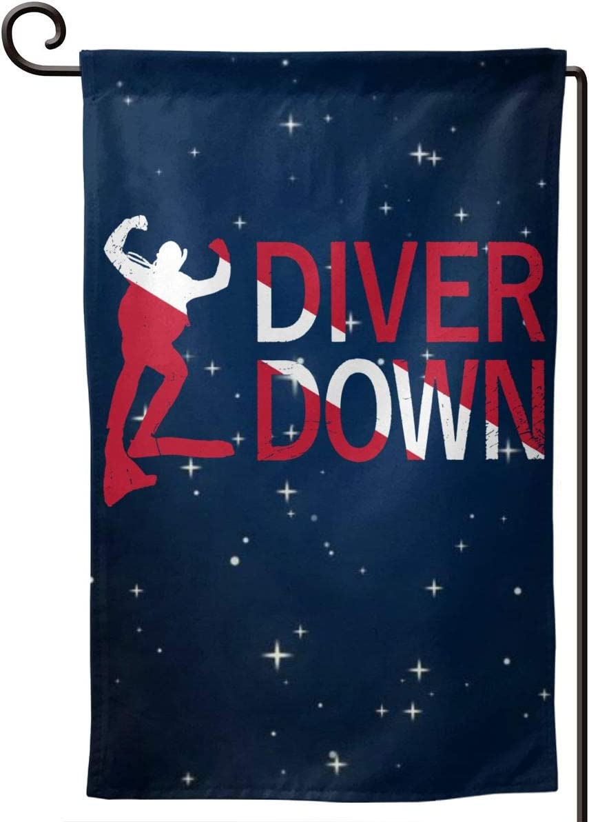 GAJAJAYZXN Diver Down Garden Flag 12.5 X 18 Inch, Family Outside Yard Decoration Flag