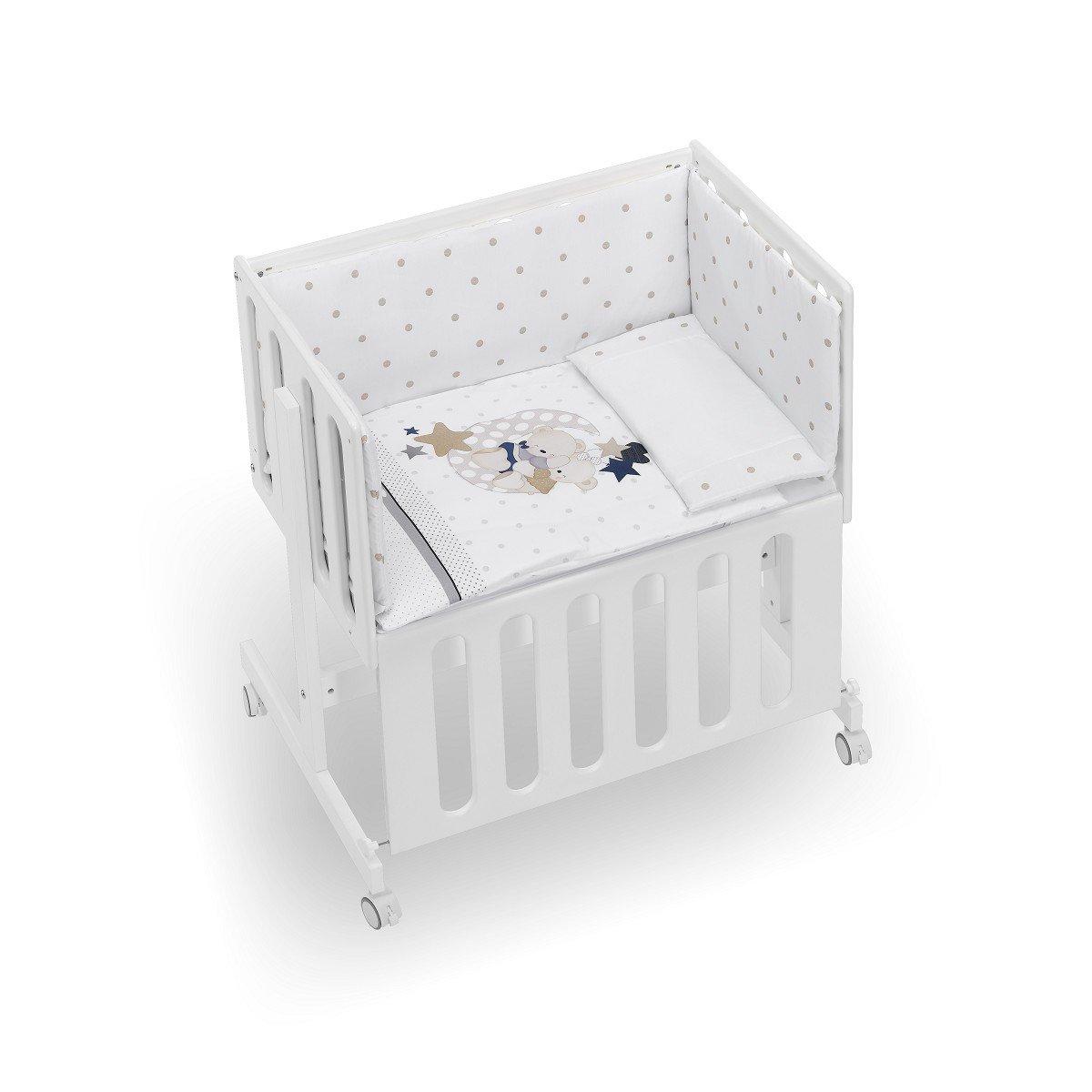 Minicuna Minana Colecho con Textil Volamos Baby Azul