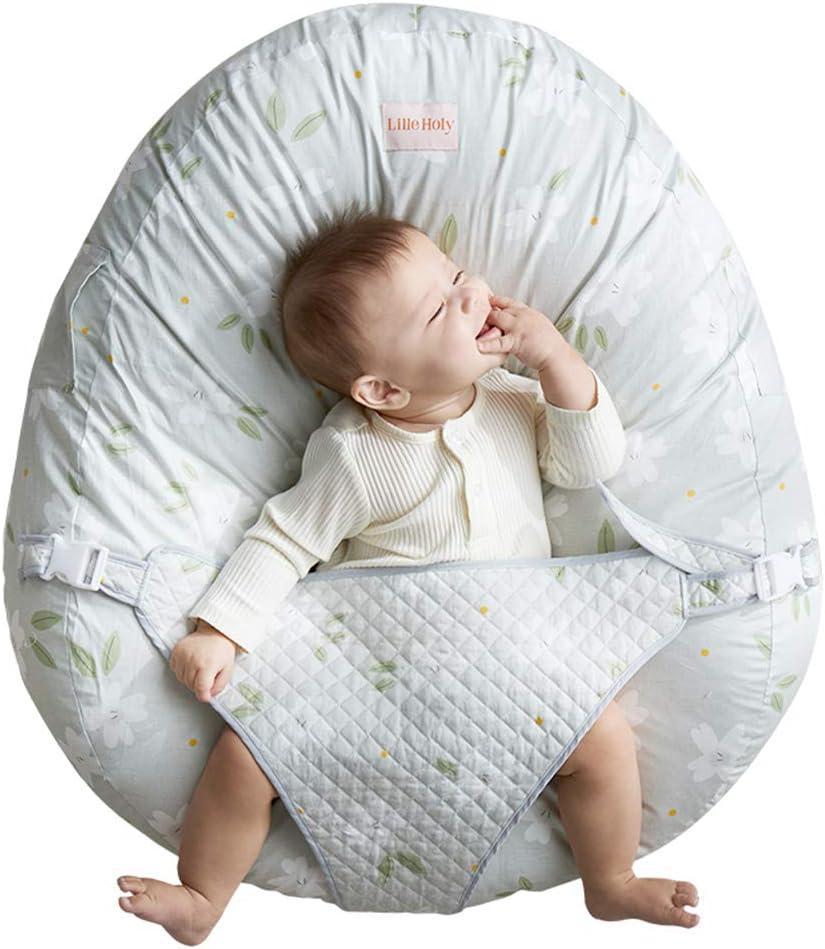 ベビーラウンジャー、ハートビートベビーベッド、枕幼児新生児ロールオーバーマットレスポータブルヘッドサポートラウンジャーベッドフックループデザイン取り外し可能な簡単なクリーニング