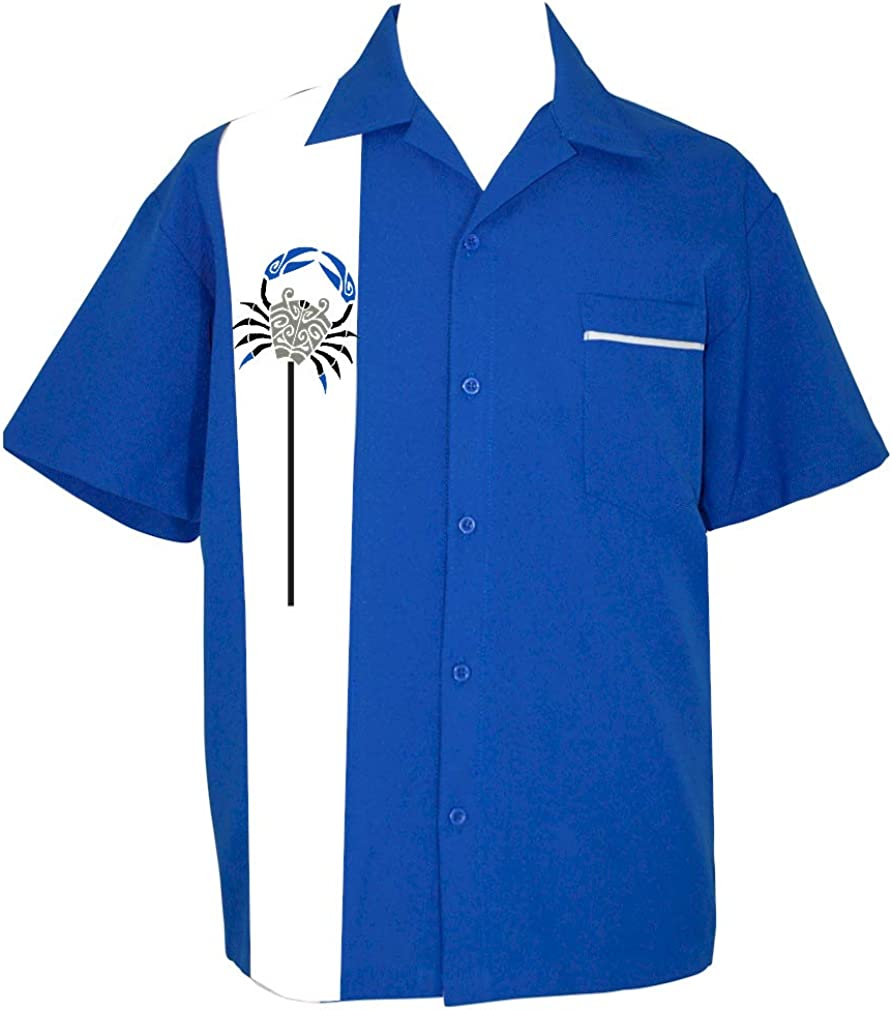 Hawaiian Shirt Men's Tiki Button Short-Sleeve supreme Crab Las Vegas Mall Up