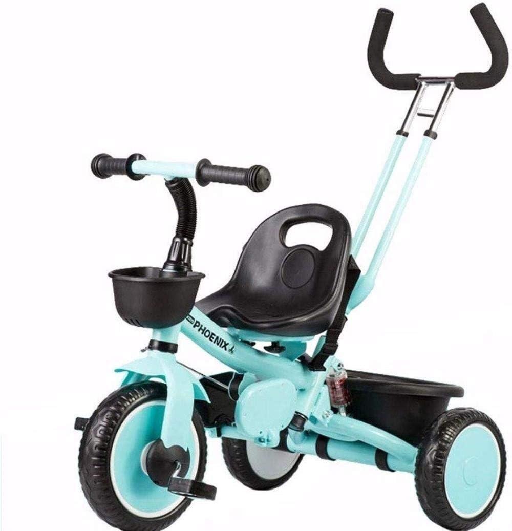 Archivador plano Trikes Triciclo 2 en 1 Triciclo triciclos for niños pequeños Bicicleta del niño Estribo de Empuje de los niños Grow-Head con Altura Ajustable de Empuje Paseo en Triciclo
