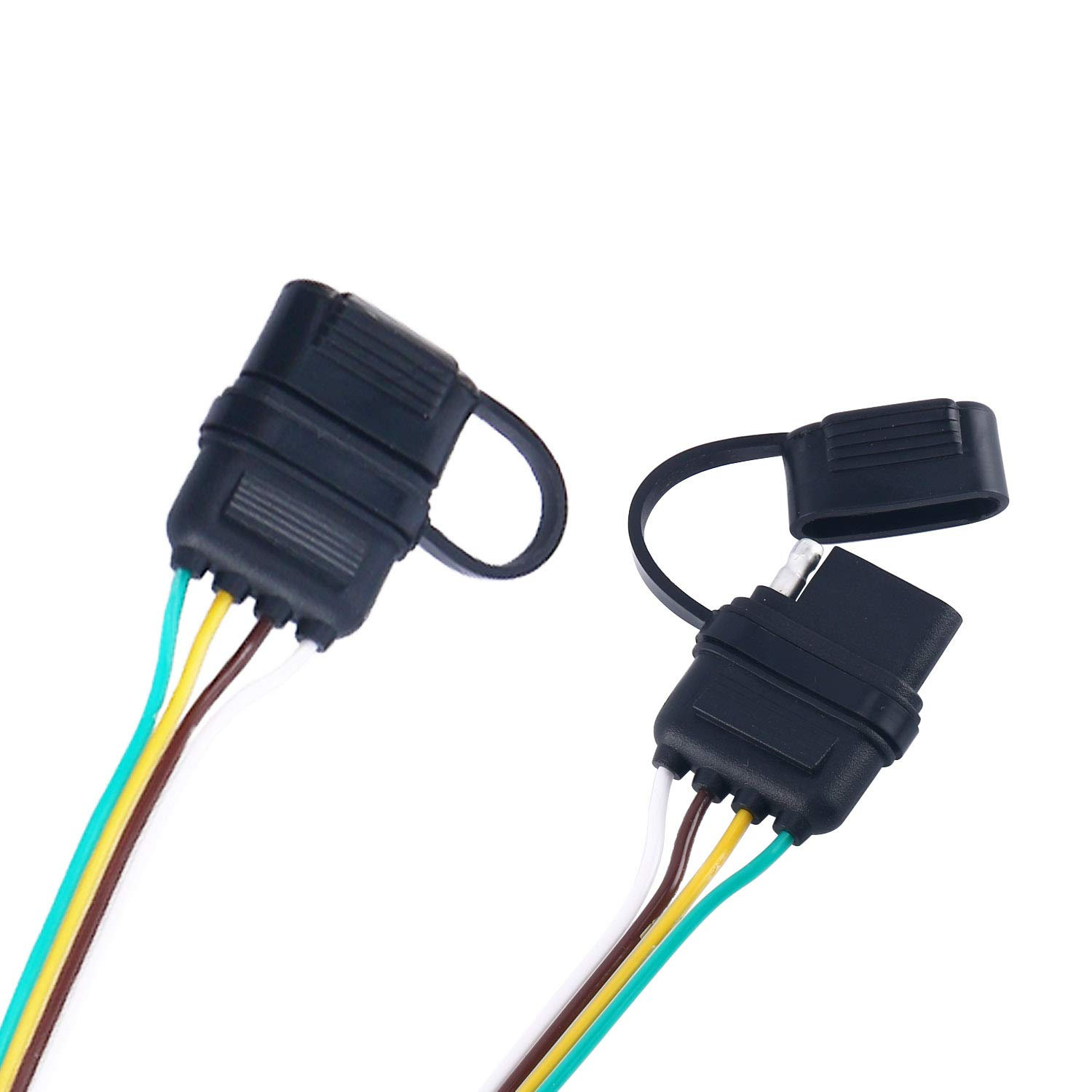 Yaekoo 4 Way Y Splitter Flat Trailer Wire Harness Extension Wiring Adapter Connector Plug For Led
