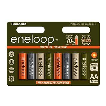 Amazon.com: Pack de 8 pilas AA de múltiples usos/colores ...