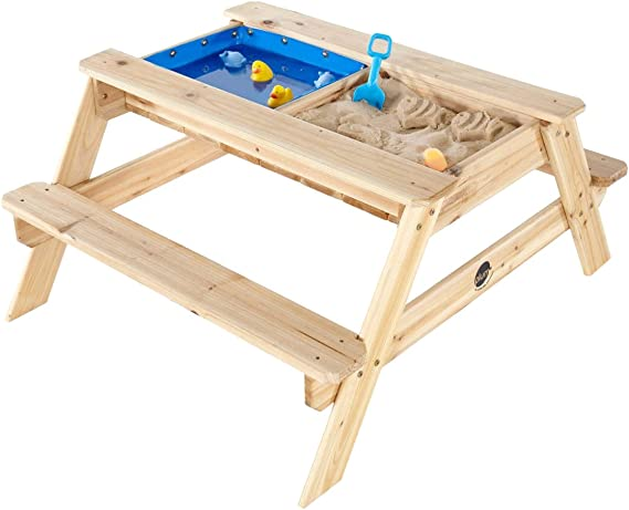 Plum- Surfside, Mesa de Picnic Infantil con Piscina, Color Natural ...
