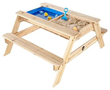 Attirant Plum® 25078 Surfside Wooden Sand And Water Table (Natural)