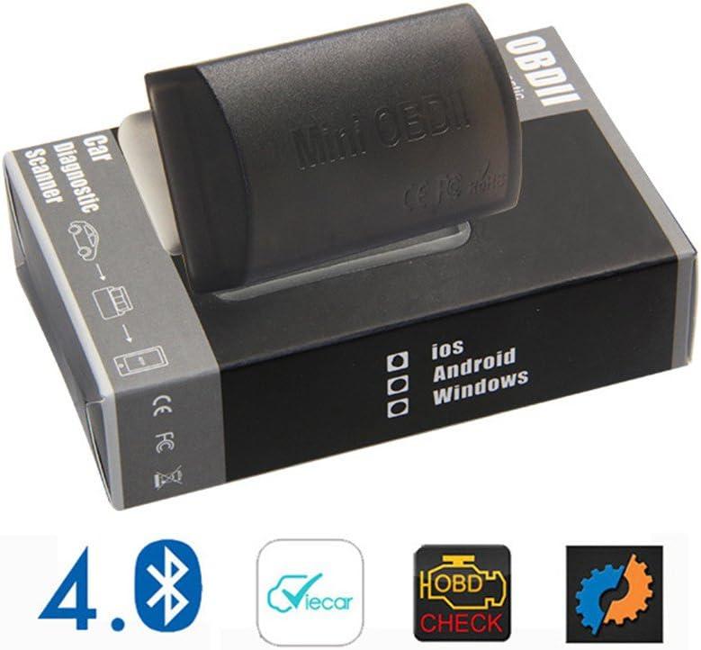 DLSEAUTO ELM327 Bluetooth 4.0 OBDII Herramienta de esc/áner de diagn/óstico Soporte J1850 Protocolo OBD2 herramienta de an/álisis trabajar en iOS//Android