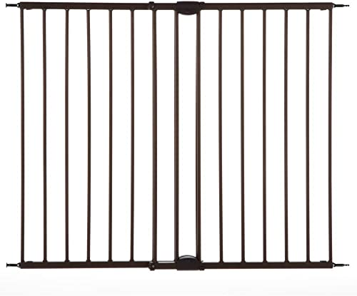 North States Mypet 47.8 Windsor Walk Thru Petgate Heavy Duty Metal Construction. Hardware Mount. Fits 28.68 -47.85 Wide 31 Tall, Matte Bronze , 4955, 28.8 – 47.8