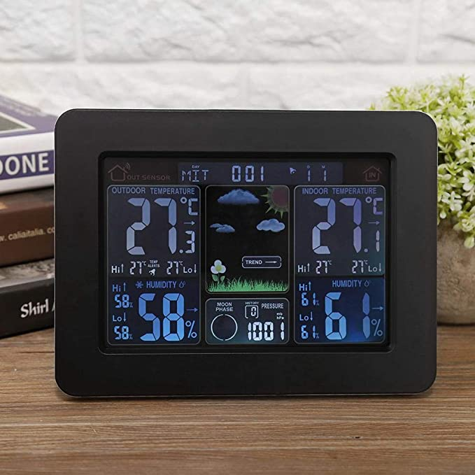 gaixample.org AUNMAS Weather Stations LCD Digital Wireless Weather ...