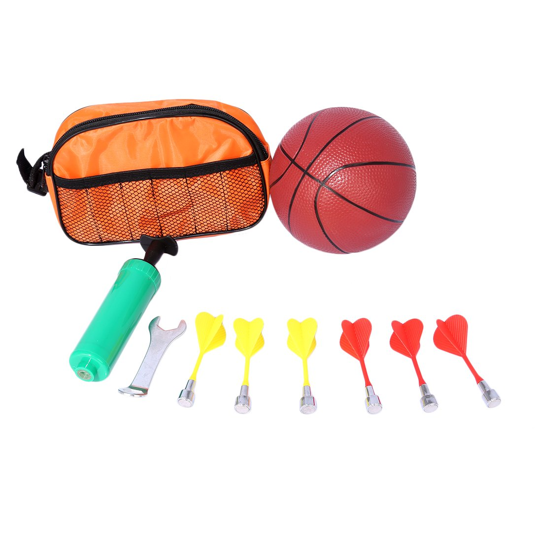 Basketball Stands PINCHUANGHUI 2-in-1 Standing Darts and Basketball Stands Kids Teenagers Goal Hoop Shooting Toy Set by PINCHUANGHUI (Image #3)