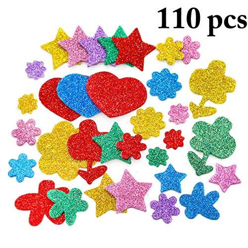 Foam Sticker,Outgeek Glitter Foam Sticker Assorted Colors Patterns DIY Self Adhesive Foam Craft Sticker
