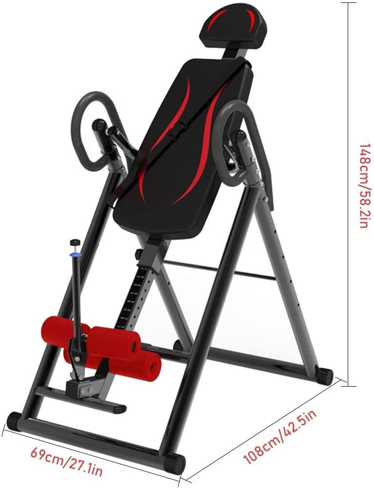 Home Use Inversion Table Fitness Back Therapy Heavy Duty Pain Relief Workout USA
