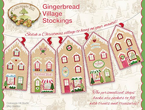 Stockings Christmas Embroidery Pattern by Meg Hawkey From Crabapple Hill Studio #445 ()