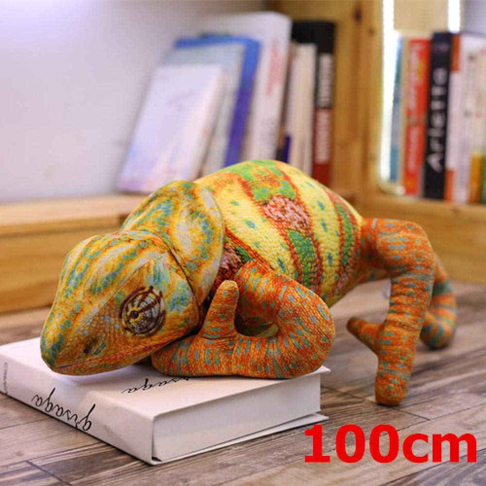 Bayue Simulation Plush Toy Lifelike Animal Plush Doll Fun Toy Soft Pillow Birthday Gift Zhaozb (Color : 100cm Chameleon) by Bayue