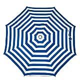 Heininger 1321 DestinationGear Italian Blue and White 6′ Acrylic Striped Beach Pole Umbrella Review