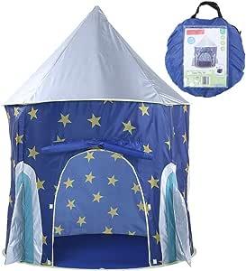 Sipobuy Tienda de Juego Kids Kingdom Pop Up Space Rocket