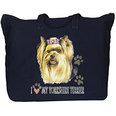BAGedge Yorkshire Terrier Zippered Tote Bag