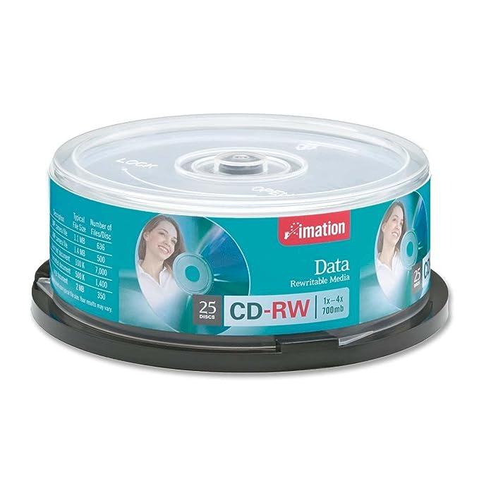Imation - 25 x CD-RW - 700 MB ( 80min ) 1x - 4x - spindle - storage ...