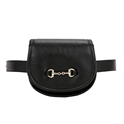 aedf70a5bc65 Inkach Waist Pack Bags - Unisex Faux Leather Fanny Packs Belly Waist Hip  Packs Shoulder Chest