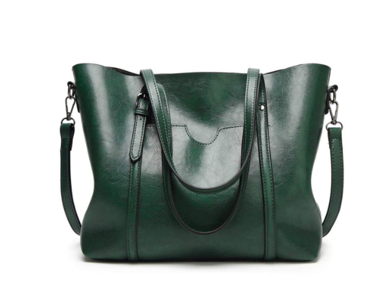 Damhandväska av högklassigt läder Grön