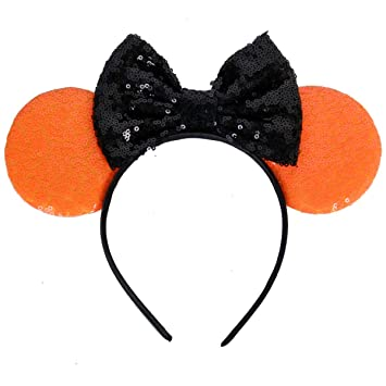 Baby Girl Headbands Prop Mickey Party New Sequin Mouse Ears Minnie Hairbands