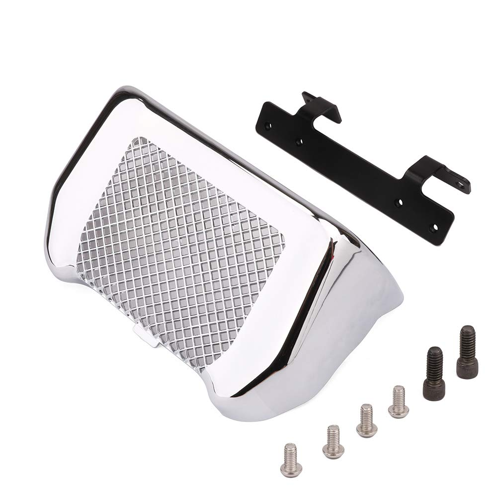An Xin Chrome Oil Cooler Cover Guard Protector For Harley Touring MK8 Bagger Fits Milwaukee-Eight Touring '17-up FLHR FLHRC FLHRXS FLHTCU FLHX FLHXS FLTRX FLTRXS