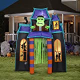 Gemmy 9' Animated Airblown Archway Monster's Haunted House Halloween Inflatable