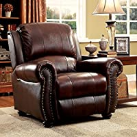 HOMES: Inside + Out Iohomes Max Top Grain Leather Match Chair, Brown
