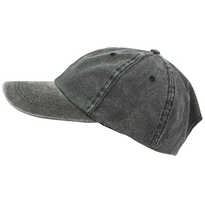 9e3942d6ddf Hawkins Pre-washed Baseball Cap - Black  Amazon.co.uk  Clothing