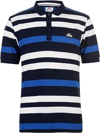 Lonsdale Hombre Yarn Dye Stripe Camiseta Polo: Amazon.es: Ropa y ...